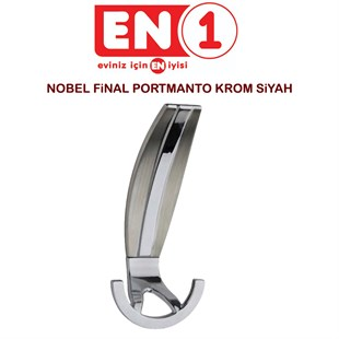 NOBEL FİNAL PORTMANTO KROM SİYAH